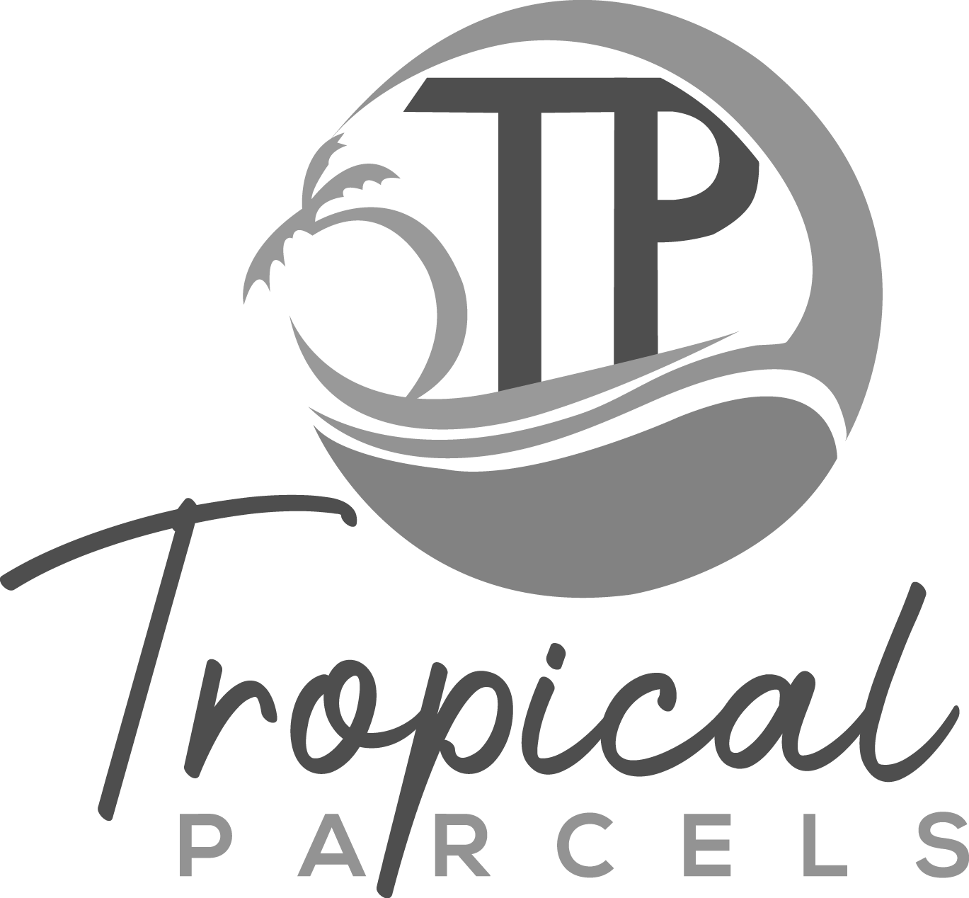 Tropical Parcels Grey Scale FF-01
